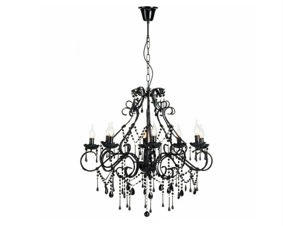 Black 12 arm chandelier - Splash Events, Noosa & Sunshine Coast