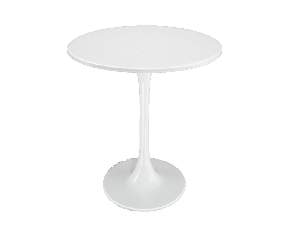 Round white tulip side table - Splash Events, Noosa & Sunshine Coast