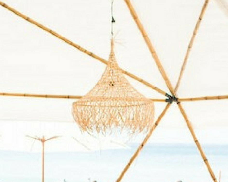 Hanging reed light - Splash Events, Noosa & Sunshine Coast