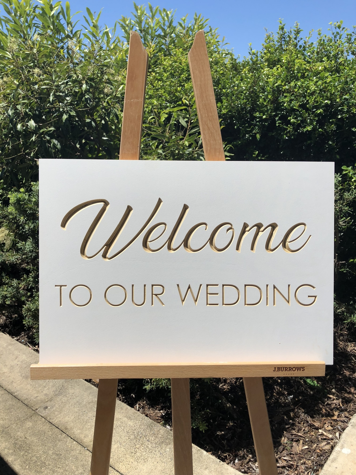 Welcome to our wedding sign - Splash Events, Noosa & Sunshine Coast