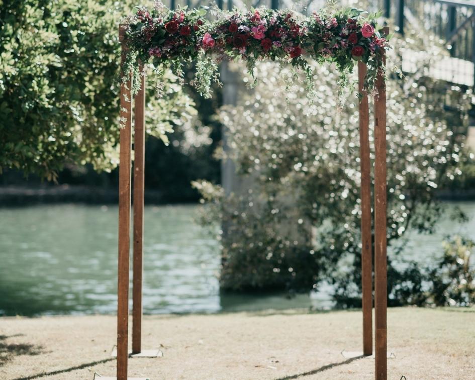 Natural timber frame canopy - Splash Events, Noosa & Sunshine Coast
