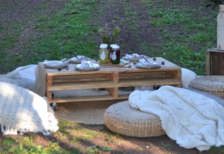 Timber pallet coffee table - Splash Events, Noosa & Sunshine Coast