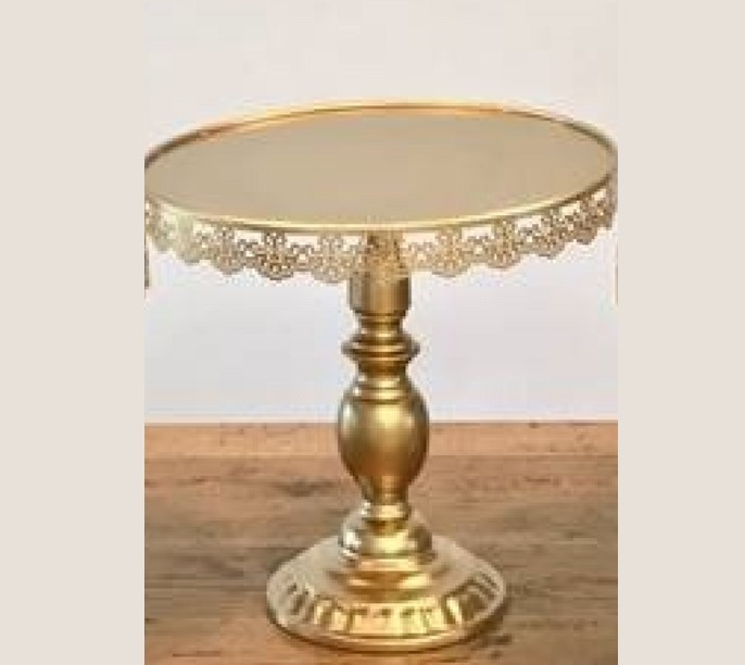 Gold footed cake stand - Splash Events, Noosa & Sunshine Coast