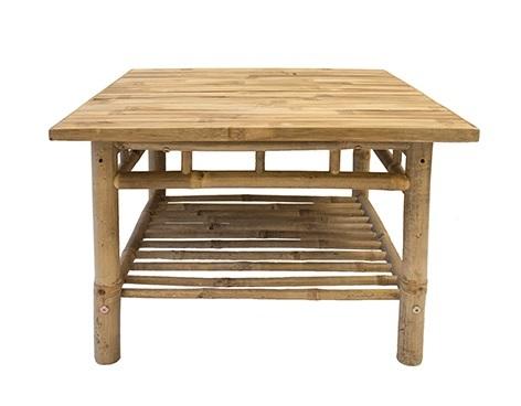 Square Bamboo coffee table - Splash Events, Noosa & Sunshine Coast