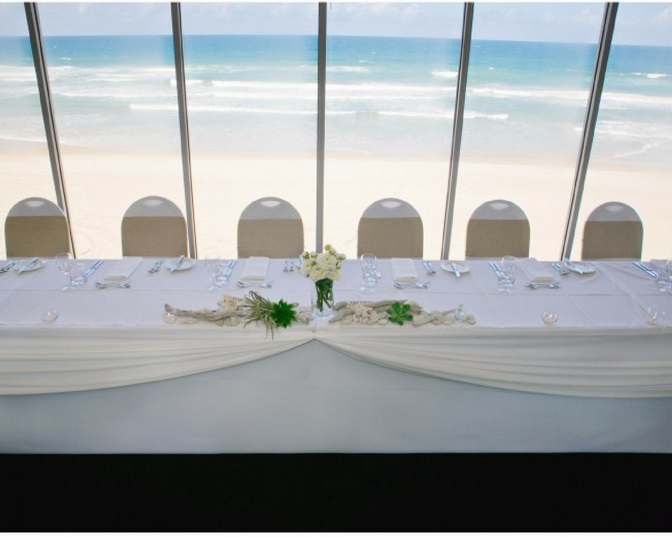 Simple decorated bridal table - Splash Events, Noosa & Sunshine Coast