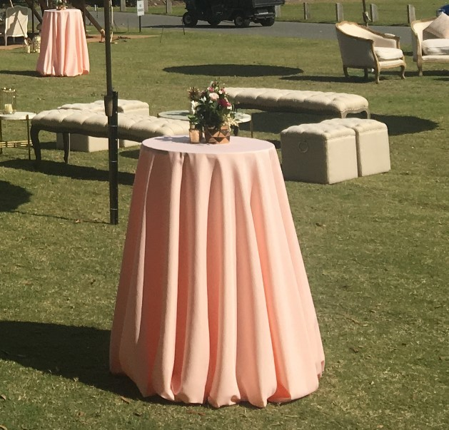 Pale Pink tablecloth - Splash Events, Noosa & Sunshine Coast