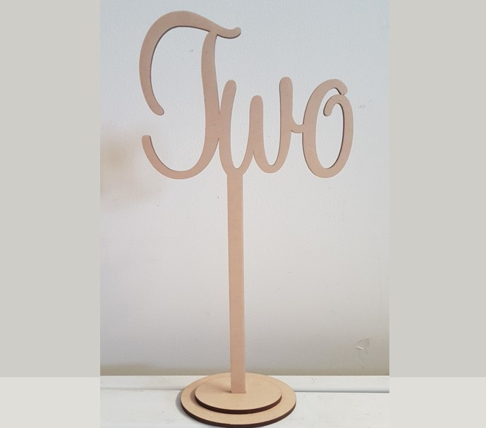 Natural wooded written table numbers - Splash Events, Noosa & Sunshine Coast