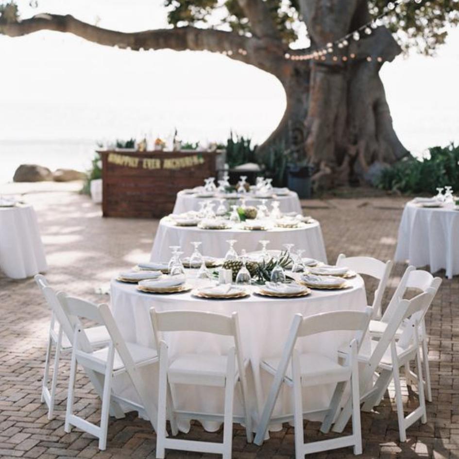 White folding chairs - Splash Events, Noosa & Sunshine Coast