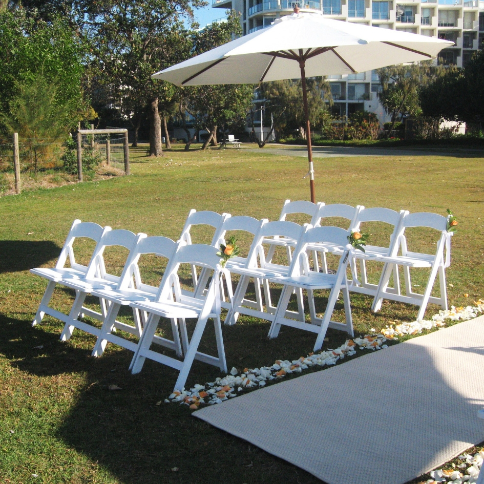 American wedding chair - Splash Events, Noosa & Sunshine Coast