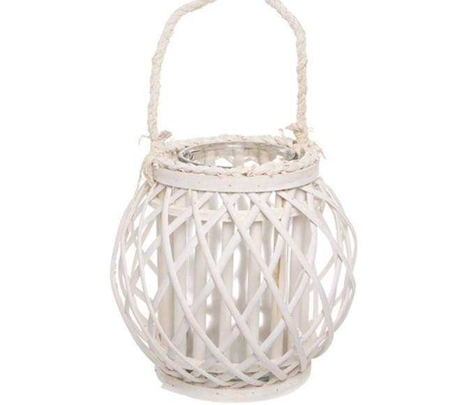 White cane lantern small - Splash Events, Noosa & Sunshine Coast