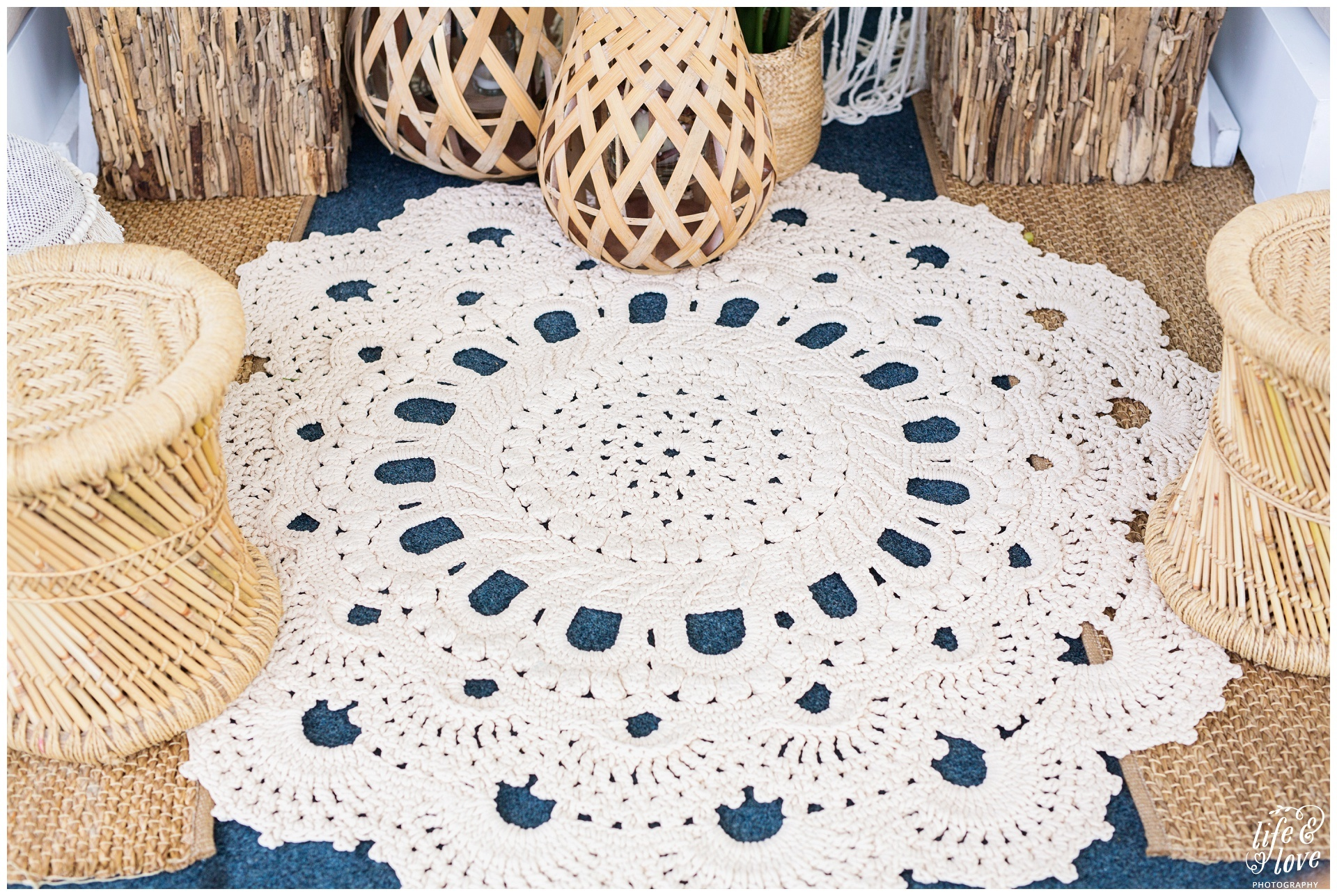 Crochet rug - Splash Events, Noosa & Sunshine Coast
