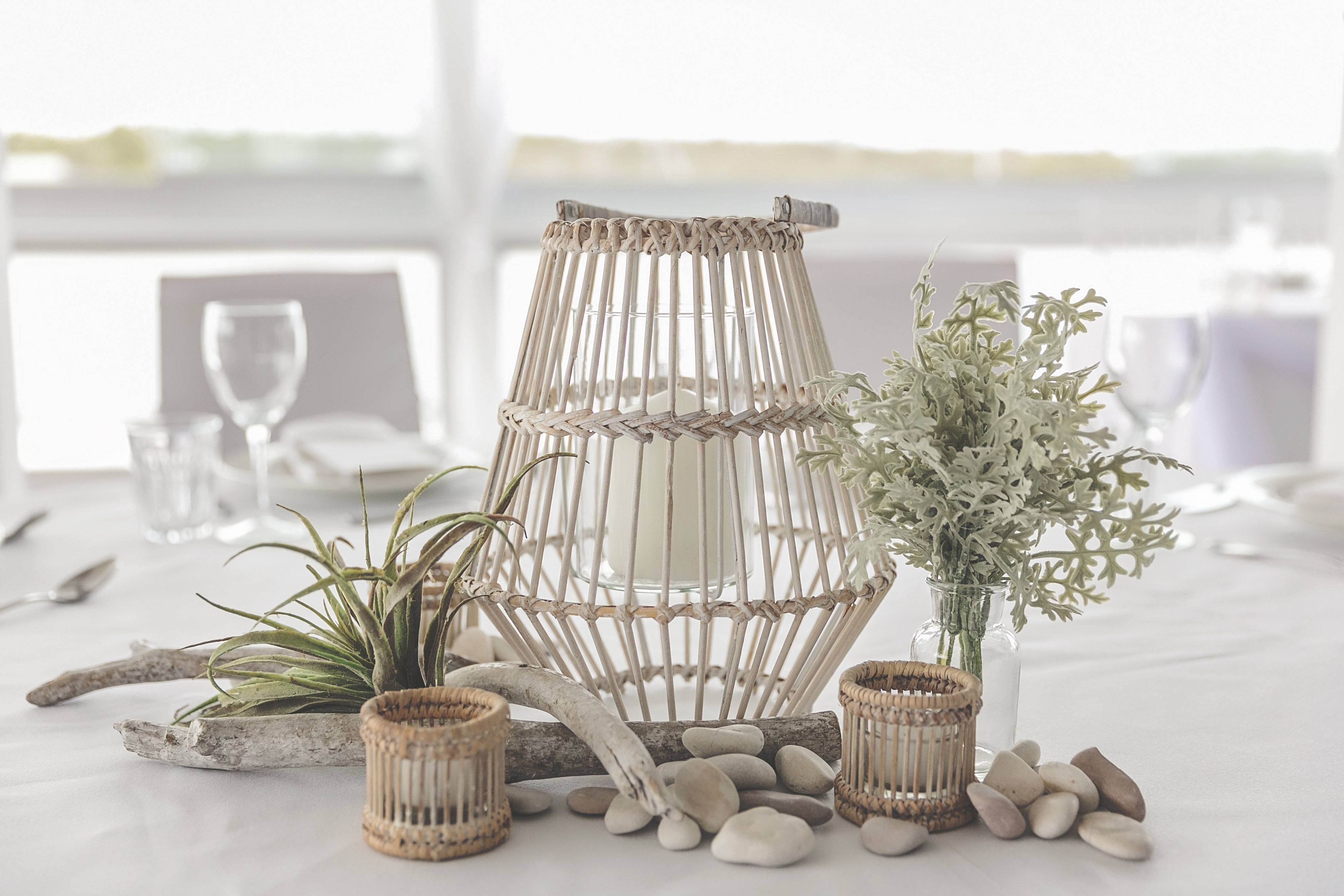 Conical bamboo lantern - Splash Events, Noosa & Sunshine Coast