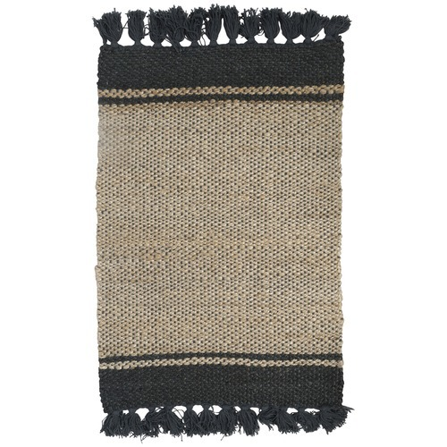 Black fringe Jute Rug - Splash Events, Noosa & Sunshine Coast
