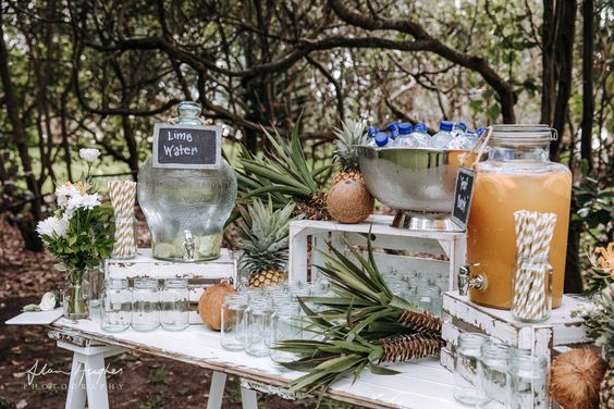 White beverage station - Splash Events, Noosa & Sunshine Coast