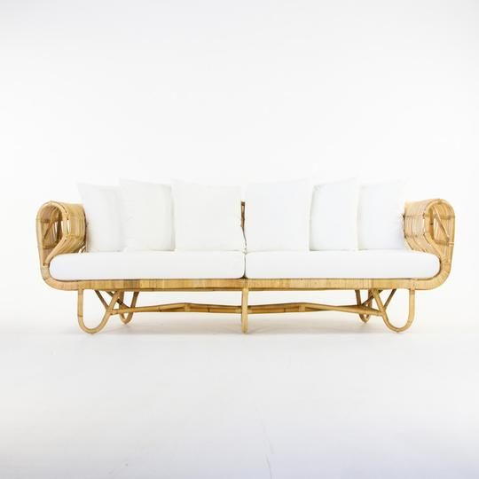 Coco rattan 3 seater lounge - Splash Events, Noosa & Sunshine Coast
