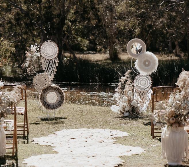 Feathered Boho Backdrop - Splash Events, Noosa & Sunshine Coast