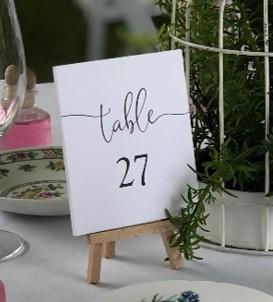 Table number on easle - Splash Events, Noosa & Sunshine Coast