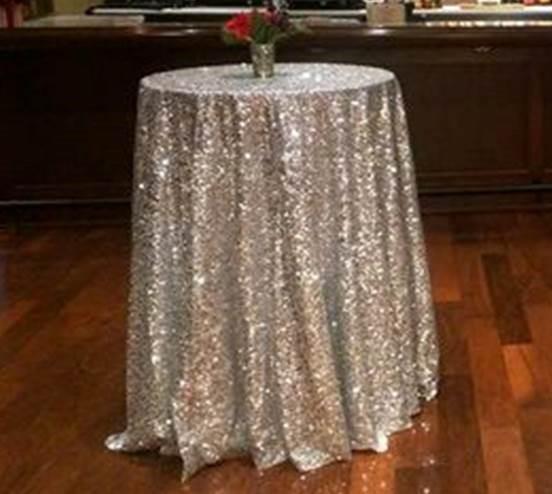 Silver Sequin cocktail table - Splash Events, Noosa & Sunshine Coast