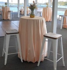 Blush cocktail table - Splash Events, Noosa & Sunshine Coast