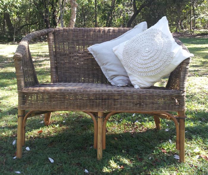 Natural wicker chair (2 seater) - Splash Events, Noosa & Sunshine Coast