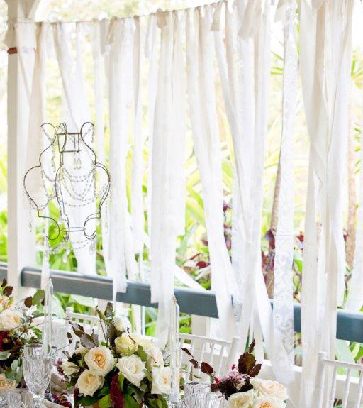 Ribbon and fabric backdrop - Splash Events, Noosa & Sunshine Coast