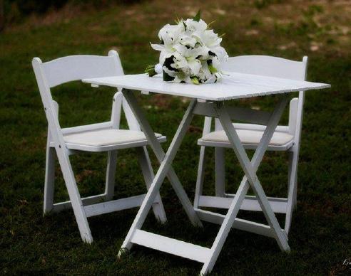 Square white timber registry table - Splash Events, Noosa & Sunshine Coast