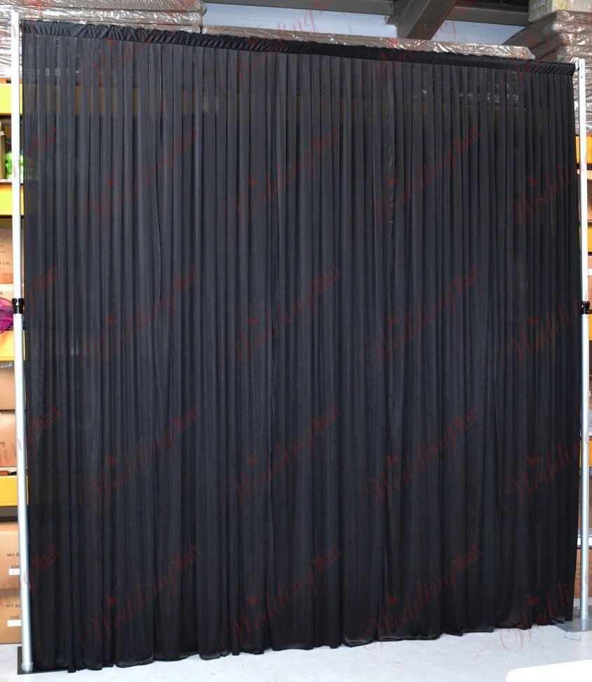 Black chiffon backdrops - Splash Events, Noosa & Sunshine Coast