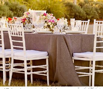Charcoal linen tablecloth - Splash Events, Noosa & Sunshine Coast
