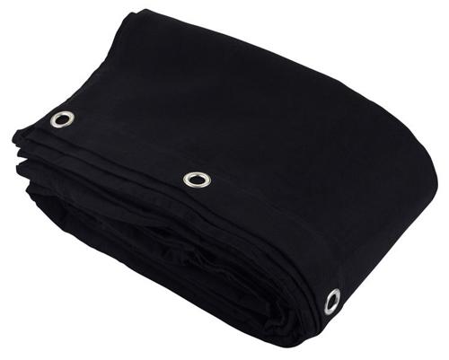 Black Wool Serge Drape