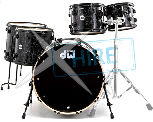 DW Satin Oil Set Ebony - Drum Kit