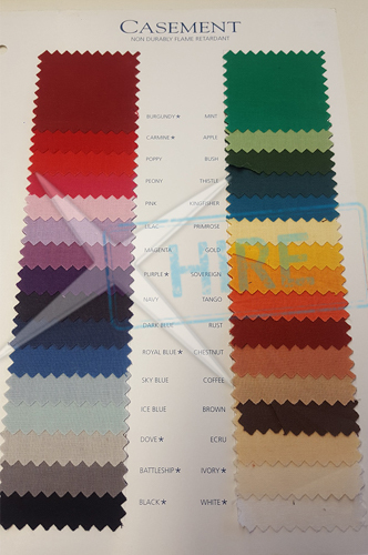 Roll of Casement NDFR fabric 100m x 1.52m - VARIOUS COLOURS AVAILABLE