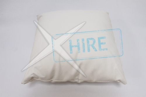 White Leatherette Throw Cushions