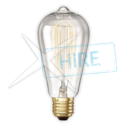 Warm White Filament Light Bulb with 01m Cable