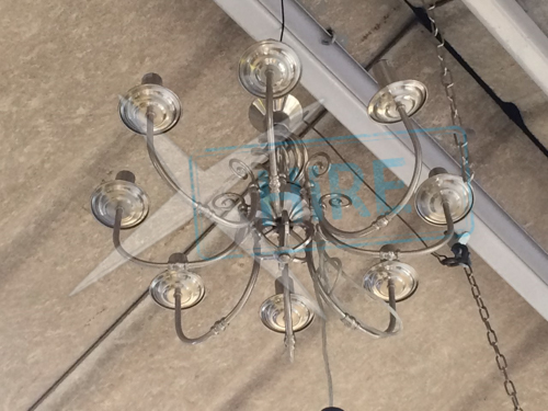 Chandalier with 8-Arms + Chrome Finish