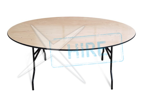 "Round Banqueting Table 5"" 6' diameter.  Sits ten"