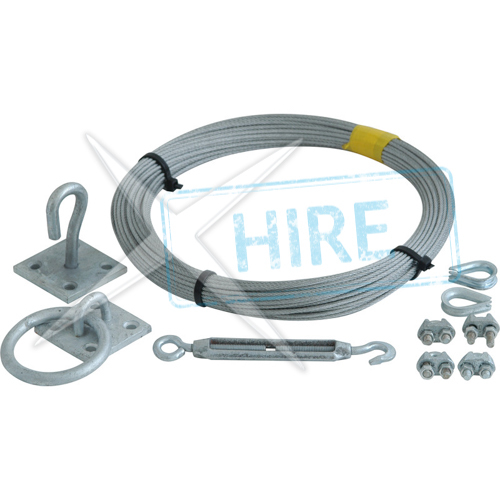 Catinery Wire Installation including wire, gripples, resin etc as required