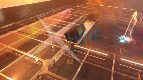 Transparent 8' x 2' Stage Deck, Uses 20mm Clear Polycarbonate