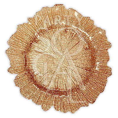 Charger Plate - Gold Starburst 13