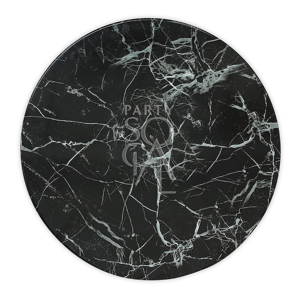 Charger Plate - Black Marble Tray 13