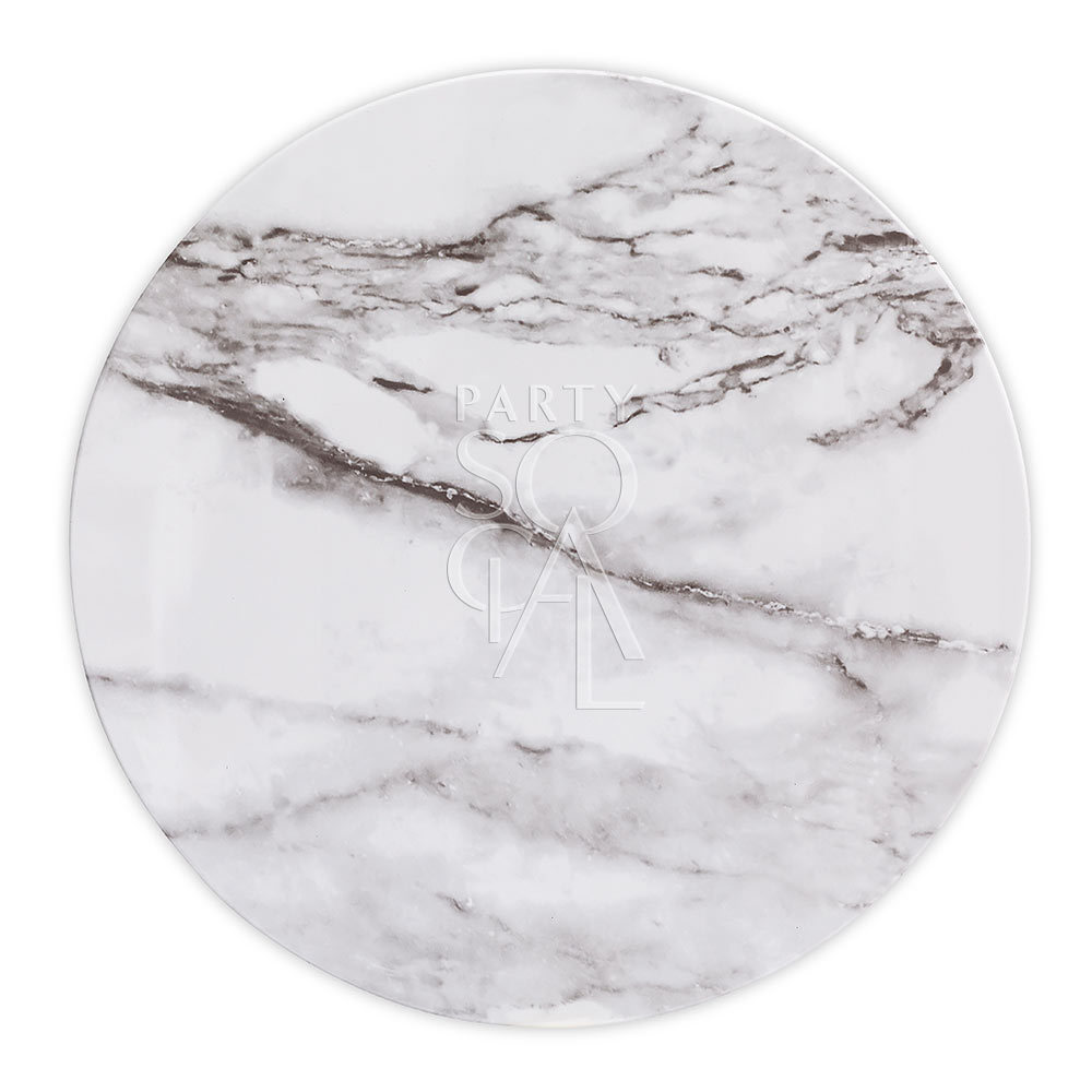 Charger Plate - White Marble Tray 13