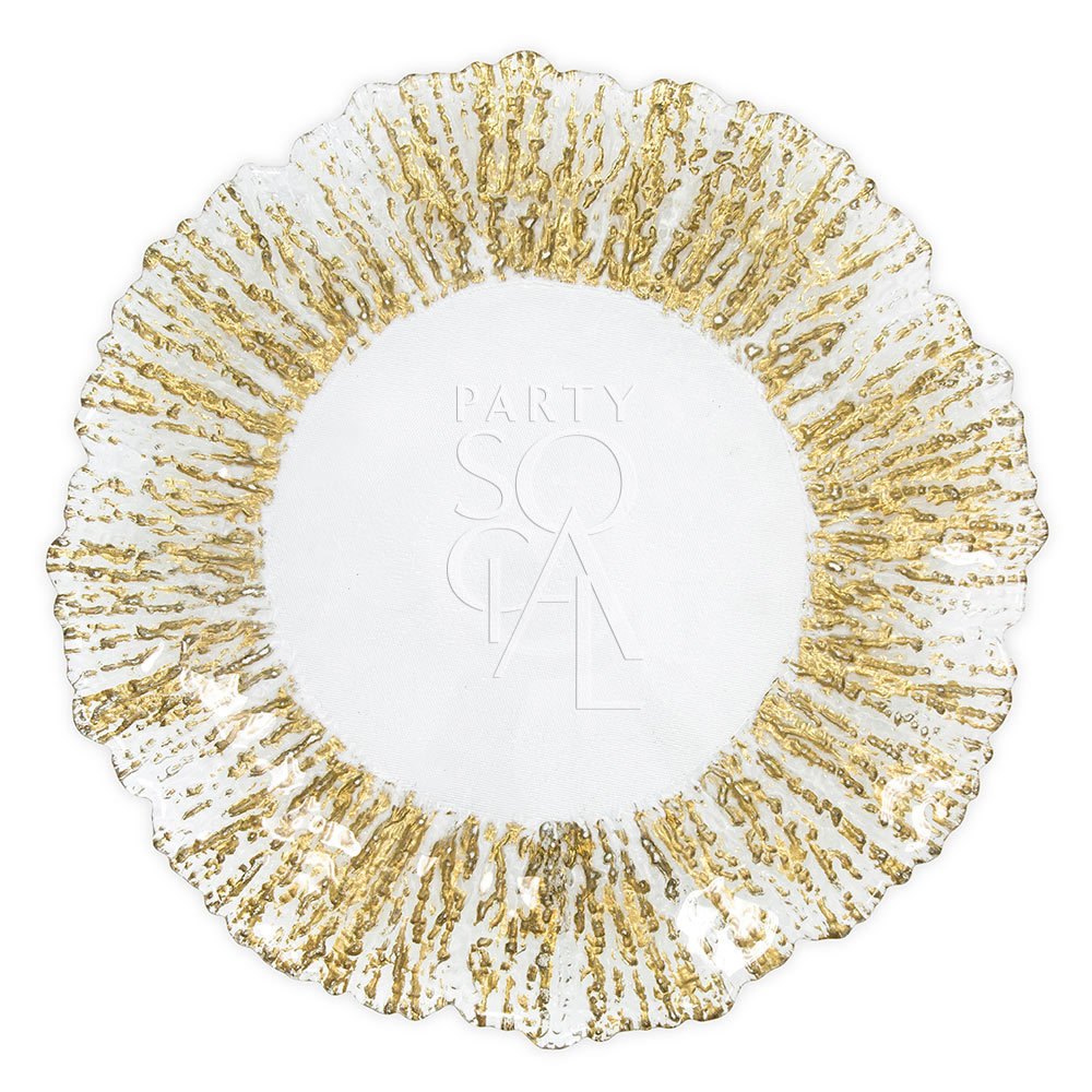 Charger Plate - Gold Leaf 13