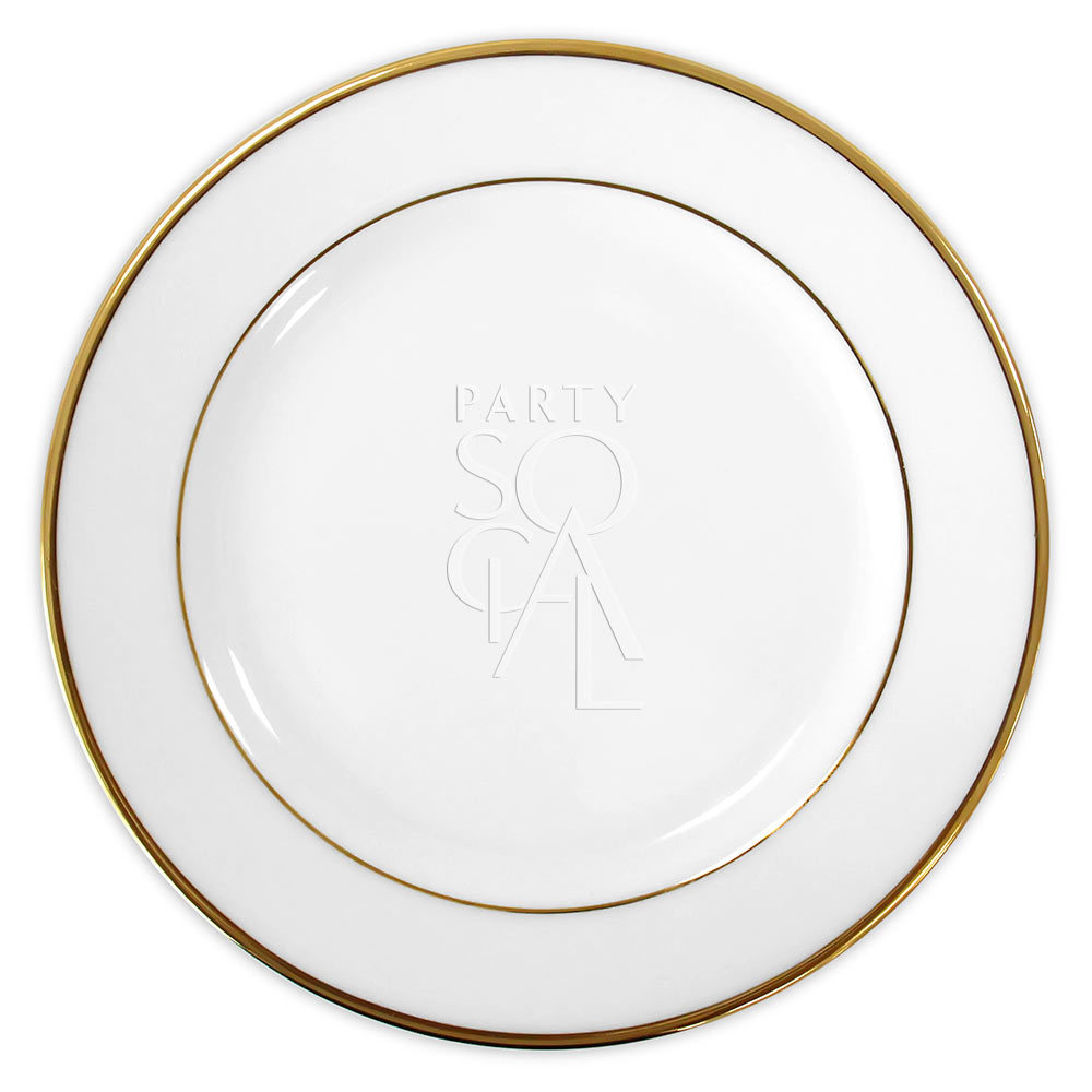 Charger Plate - Modern China w/ Gold Rim 12