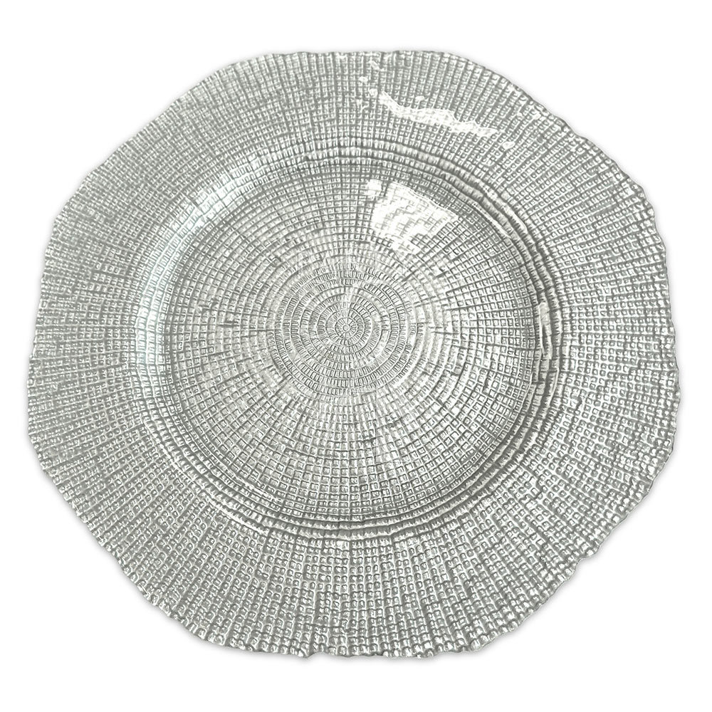 Charger Plate - Silver Grain 13