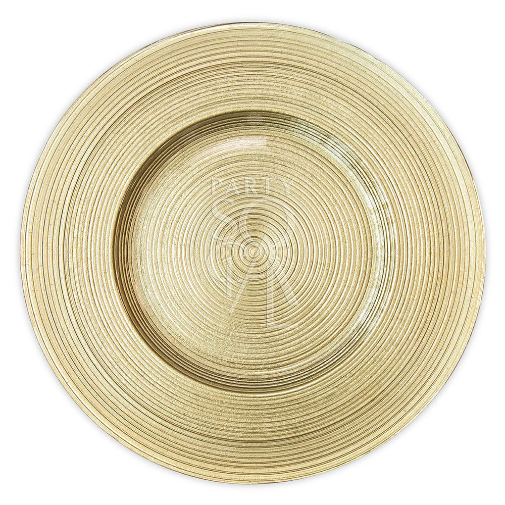 Charger Plate - Gold Lined 13