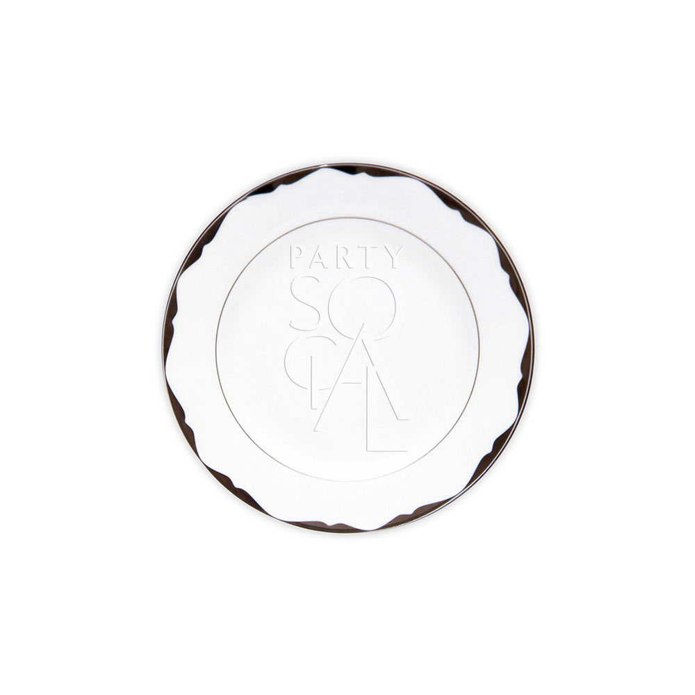 China Platinum Dessert Plate 7.5
