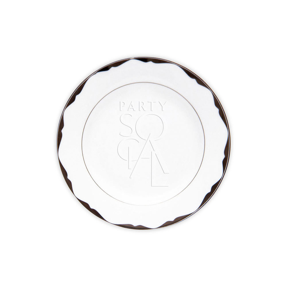 China Platinum Soup Plate 9
