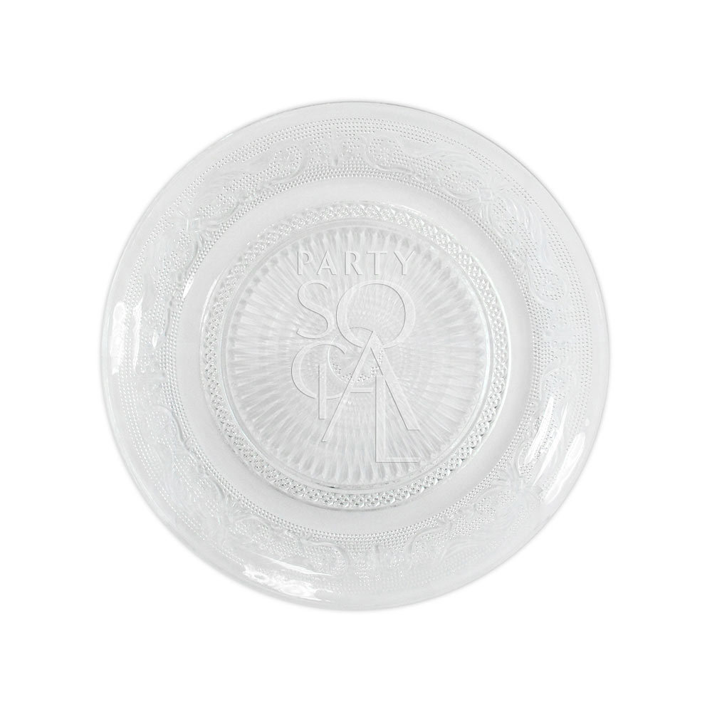 Plate - Vintage Clear Glass 25cm