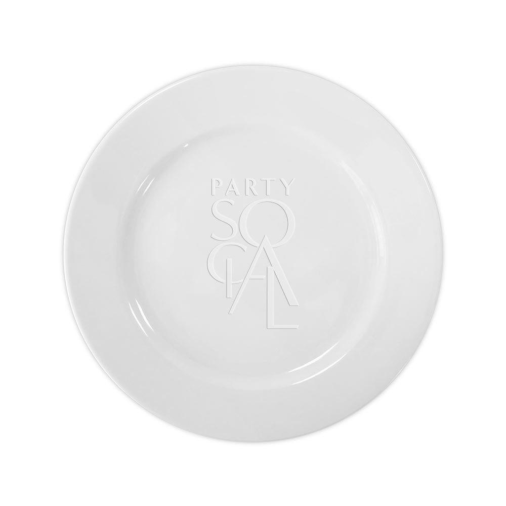 Simple White Dinner Plate 10.5