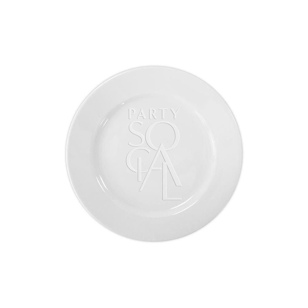 Simple White Dessert Plate 7.5