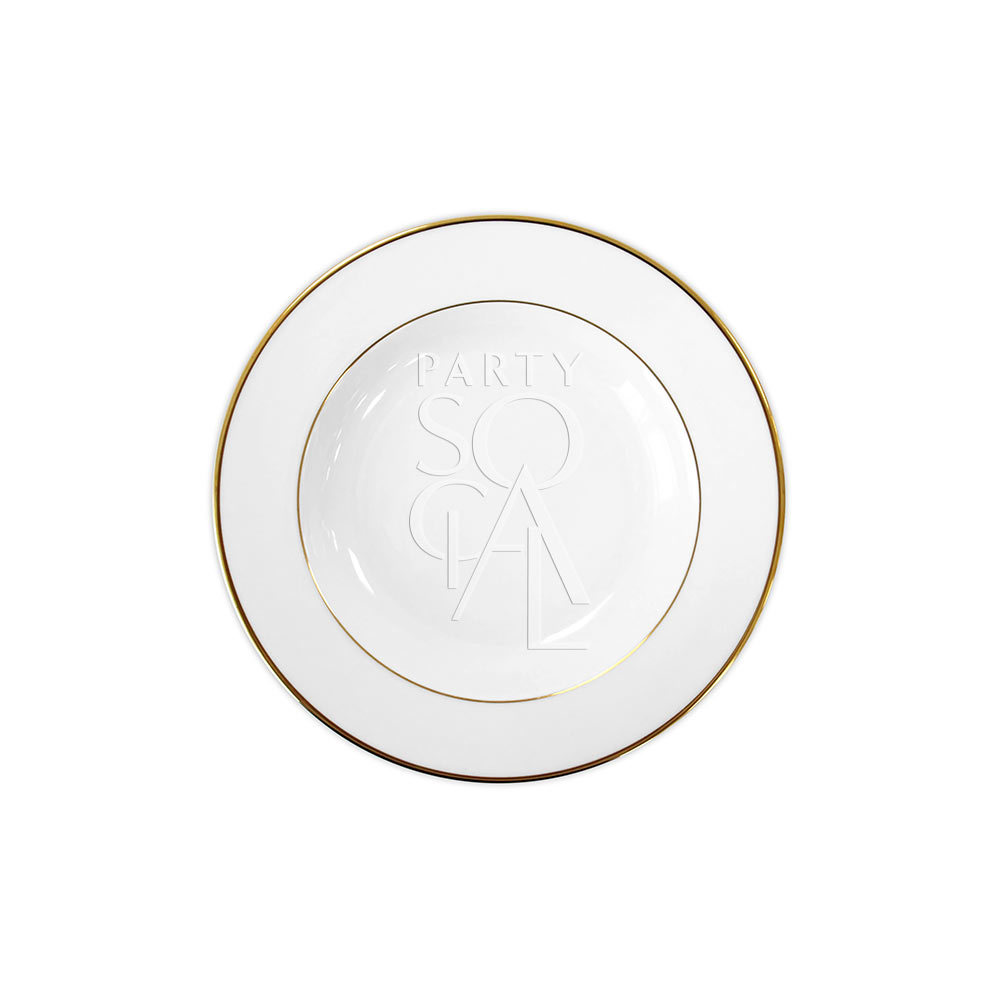 Modern China w/ Gold Rim Soup Plate 8.5